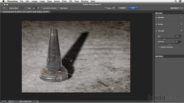 Making a cast shadow more realistic with Multiply: Photoshop CC Essential Training (2013)