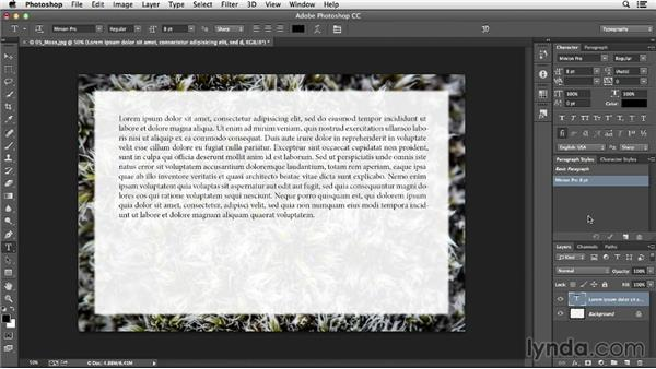 Defining character and paragraph styles: Photoshop CC Essential Training (2013)