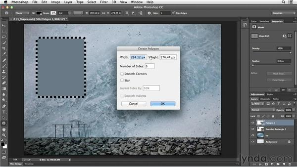 Using the shape tools: Photoshop CC Essential Training (2013)