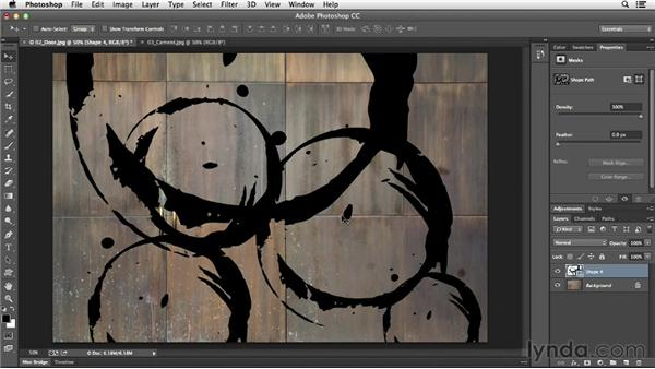 Custom shape layers: Photoshop CC Essential Training (2013)