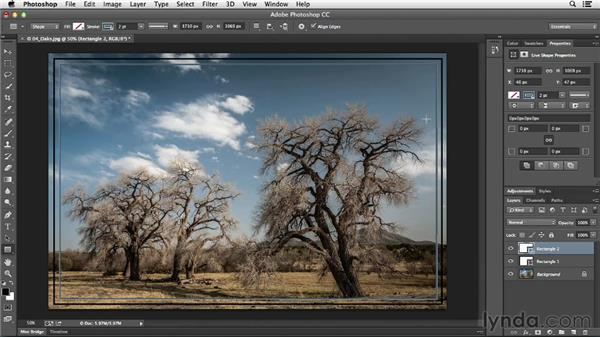 Adding a keyline to an image: Photoshop CC Essential Training (2013)