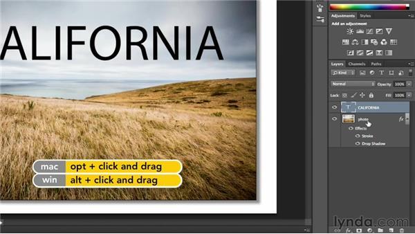Adding a drop shadow effect: Photoshop CC Essential Training (2013)