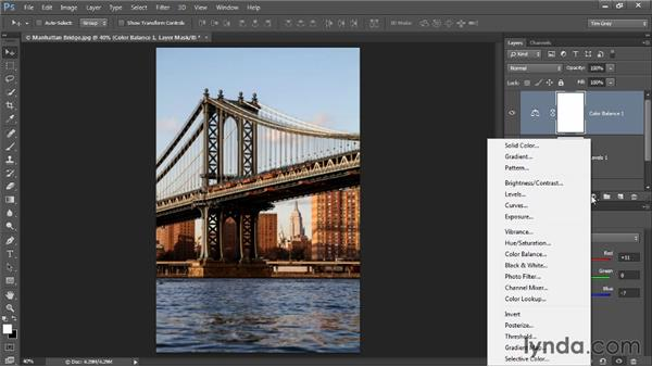 A basic adjustment workflow: Photoshop CC Image Optimization