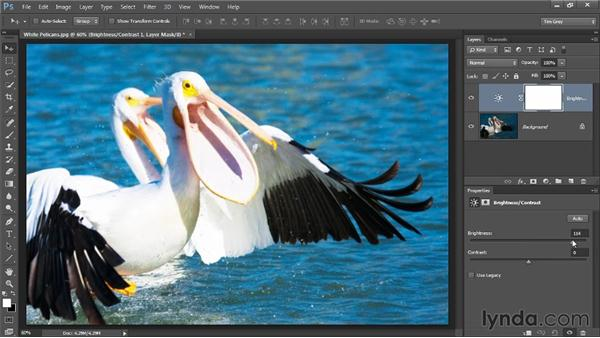 Improving tonality with Brightness/Contrast: Photoshop CC Image Optimization