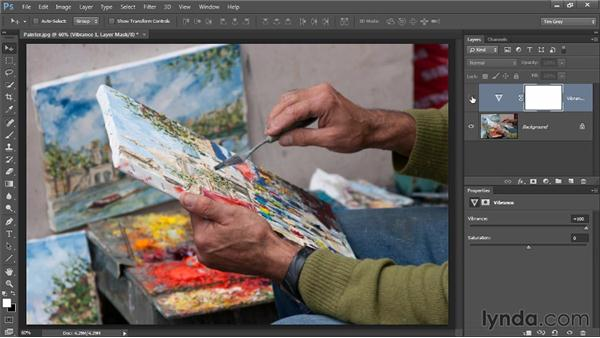 Boosting colors with Vibrance: Photoshop CC Image Optimization