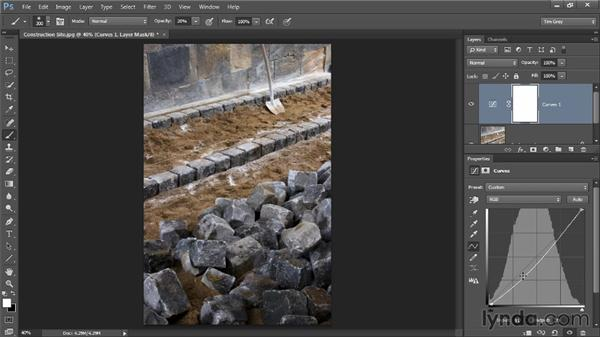 Tonal adjustments with Curves: Photoshop CC Image Optimization