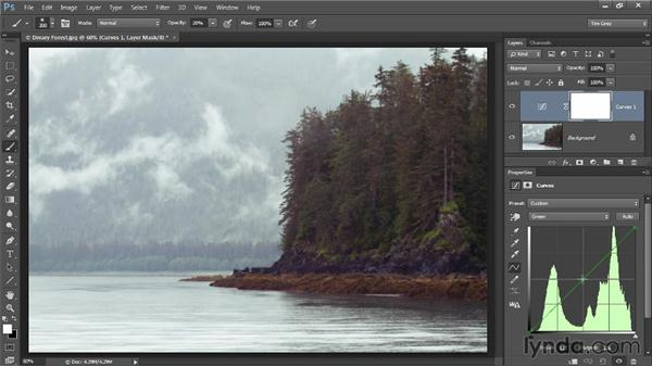 Color adjustments with Curves: Photoshop CC Image Optimization