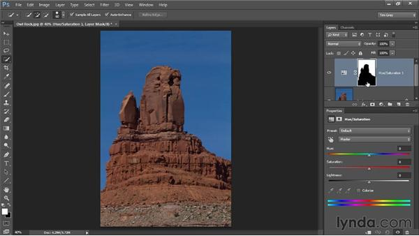 Making a targeted adjustment from a selection: Photoshop CC Image Optimization