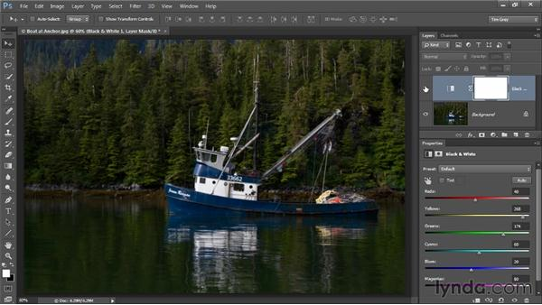 Creating black and white from color: Photoshop CC Image Optimization