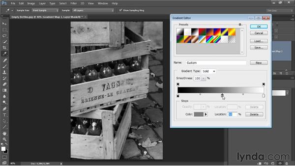 Using a gradient map: Photoshop CC Image Optimization