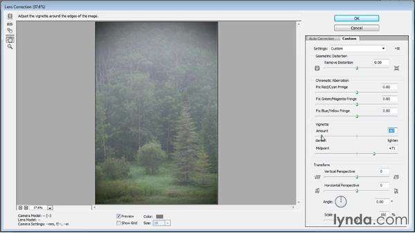 Adding a vignette effect: Photoshop CC Image Optimization