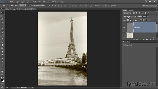 Creating film grain: Photoshop CC Image Optimization