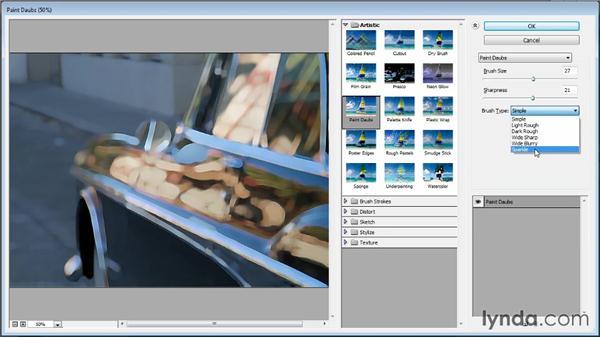 Using filter effects: Photoshop CC Image Optimization