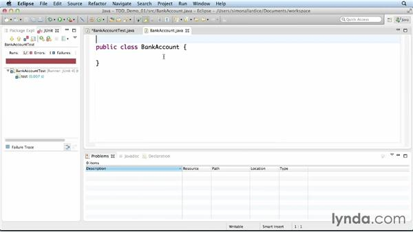 Creating a test in Eclipse: Foundations of Programming: Test-Driven Development