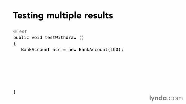 Testing return values: Foundations of Programming: Test-Driven Development