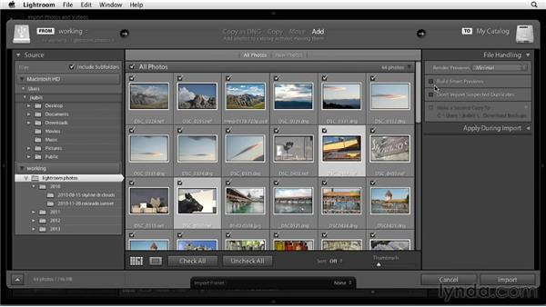 Importing photos from a drive: Up and Running with Lightroom 5