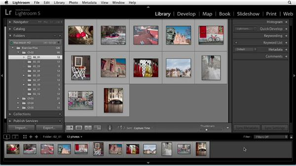 Library module workspace: Up and Running with Lightroom 5
