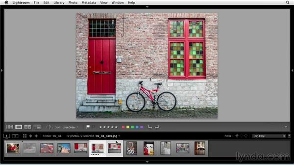 Reviewing and rating photos: Up and Running with Lightroom 5