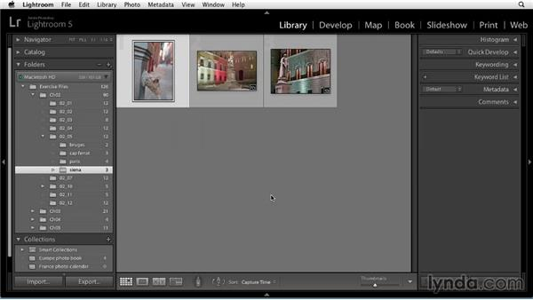Organizing with collections: Up and Running with Lightroom 5