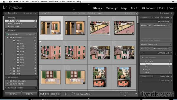 Finding photos by keyword: Up and Running with Lightroom 5