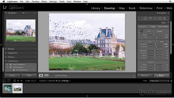 Develop module workspace: Up and Running with Lightroom 5