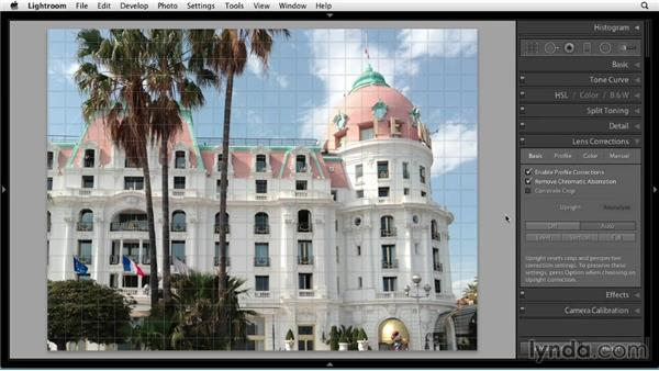 Fixing perspective with Upright: Up and Running with Lightroom 5