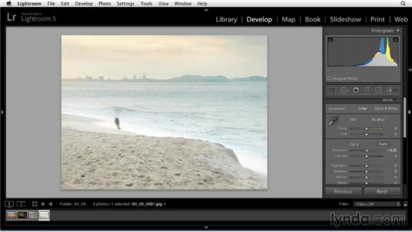 Using the histogram to evaluate tones: Up and Running with Lightroom 5