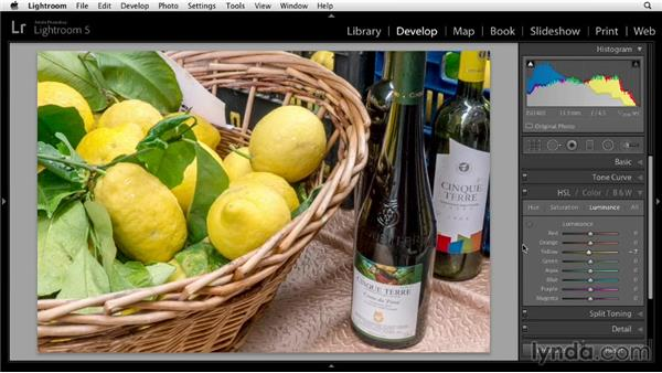 Fine-tuning colors in the HSL panel: Up and Running with Lightroom 5