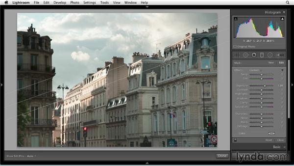 Gradual editing with the Graduated filter: Up and Running with Lightroom 5