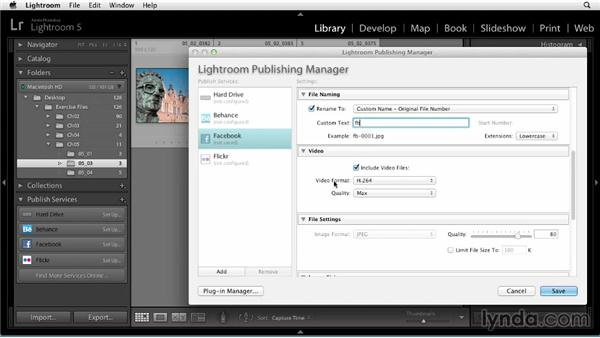 Setting up a connection to Facebook: Up and Running with Lightroom 5