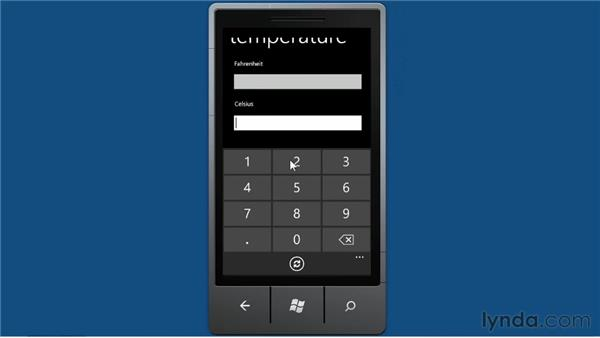 Introducing the converter: Windows Phone SDK Essential Training