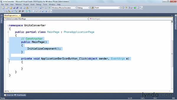 Responding to the Application Bar: Windows Phone SDK Essential Training