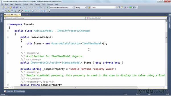Exploring the Model-View-ViewModel pattern (MVVM): Windows Phone SDK Essential Training