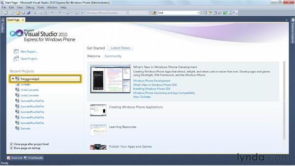 Choosing a multipage controller: Windows Phone SDK Essential Training