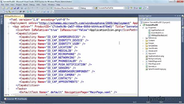 Cloning a Windows Phone app: Windows Phone SDK Essential Training