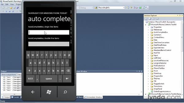 Windows Phone Toolkit: Windows Phone SDK Essential Training