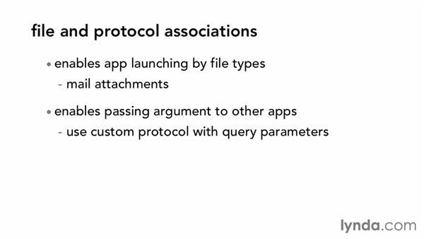 File and protocol associations: Windows Phone SDK Essential Training