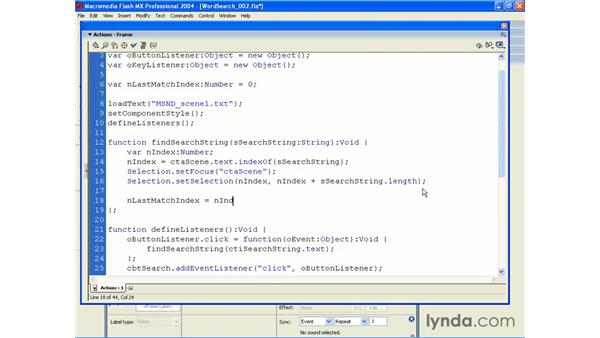 word search application pt 2: ActionScript 2.0 Beyond the Basics