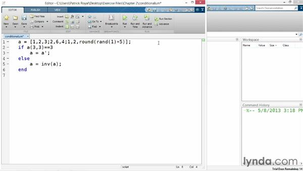 Control flow: Up and Running with MATLAB