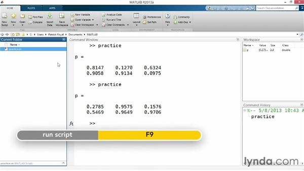 Viewing and editing programs: Up and Running with MATLAB