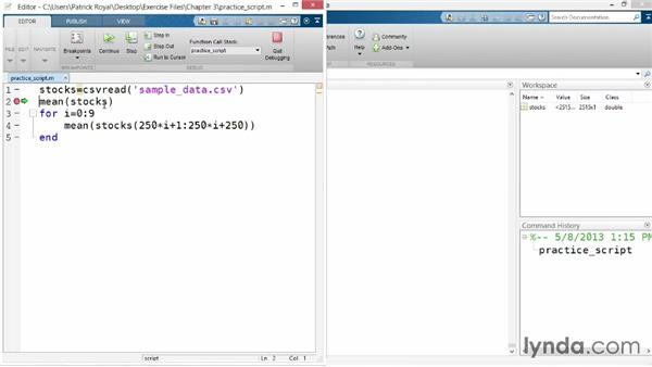 Debugging: Up and Running with MATLAB