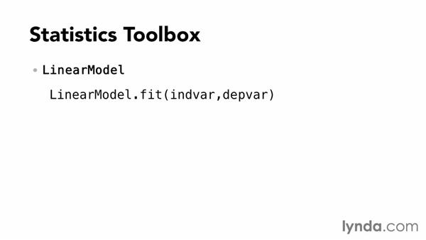 Statistics Toolbox: Up and Running with MATLAB