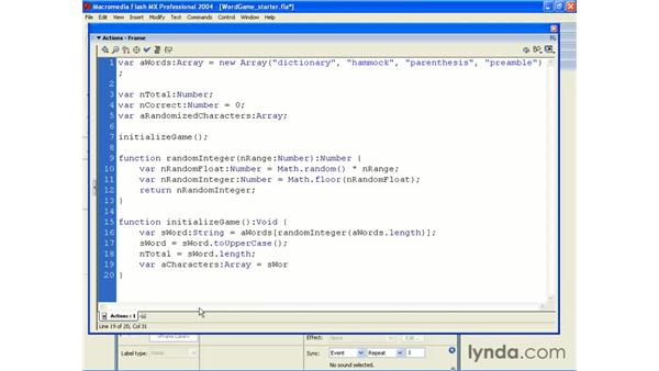word game application pt 1: ActionScript 2.0 Beyond the Basics