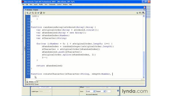 word game application pt 2: ActionScript 2.0 Beyond the Basics