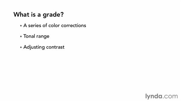 What is a grade?: The Art of Color Correction: Artistic Color Grading on the Timeline