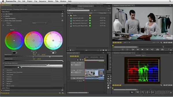 Starting with contrast and color: The Art of Color Correction: Artistic Color Grading on the Timeline