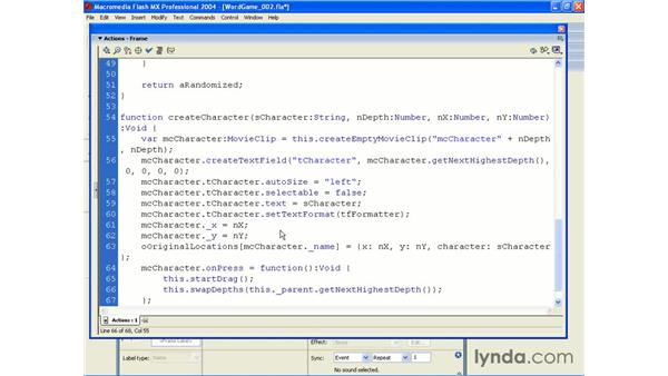 word game application pt 3: ActionScript 2.0 Beyond the Basics