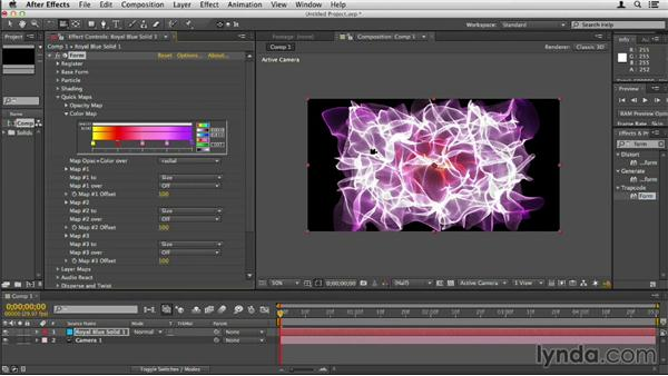 Adjusting the Color Map: Up and Running with Trapcode Form