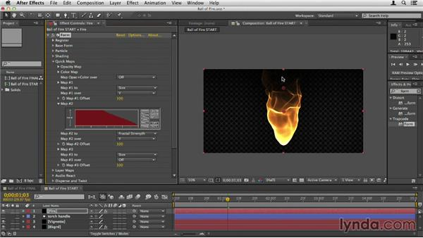 Creating a ball of fire: Up and Running with Trapcode Form