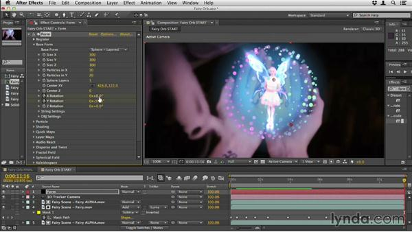 Creating the fairy orb: Up and Running with Trapcode Form